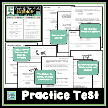 End of the Year Science Test Prep - 5th Grade