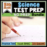 End of Year Science Review Test Prep BUNDLE 5th Grade