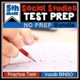 End of Year Social Studies Review Test Prep BUNDLE 5th Grade