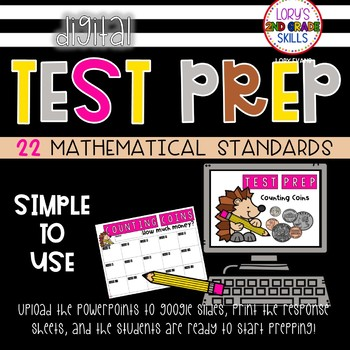 End of the Year Test Prep MATH - Digital