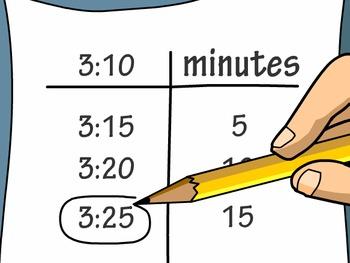 Test Prep: Telling Elapsed Time in Minutes-Math Center Exit Slip
