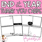 End of the Year Thank You Cards