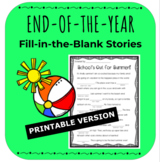 PRINTABLE Fun End of Year Worksheets Activity