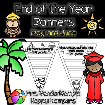 End of the Year Themed Writing Banners [[Graduation Included!]]