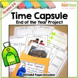 End of the Year Time Capsule with Editable Slides
