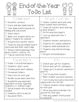 End of the Year To Do List FREEBIE!