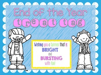 End of the Year Treat Tag