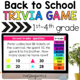 Back to School Trivia Game 1st-4th  *PowerPoint & Google Slides*