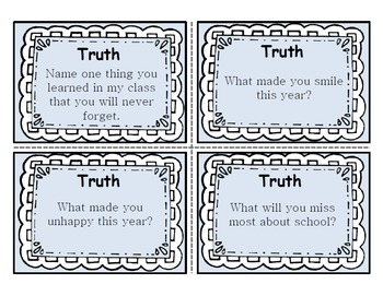 End of the Year - Truth or Dare