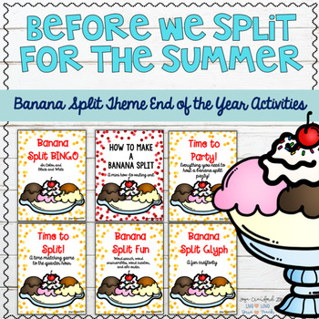 """End of the Year Math and ELA Unit: Before We """"Split"""" for the Summer"""