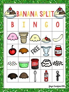 End of the Year Activities - Banana Split Theme