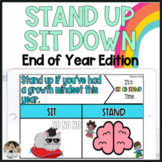 End of the Year Virtual Games Stand Up Sit Down Game