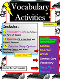 Vocabulary Activities- Middle and High School Creative Sto