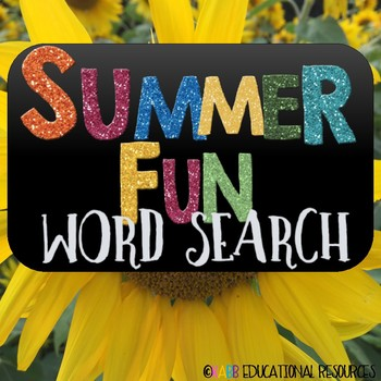 End of the Year Word Search!  Summer Fun!