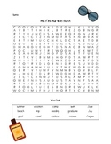 End of the Year Word Search and Word Jumble