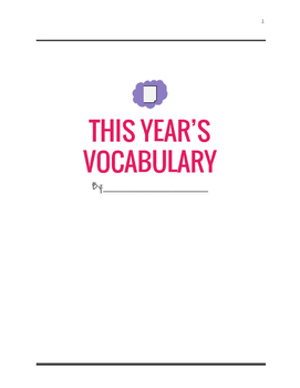 End of the Year Word Wall Review