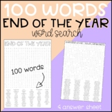 End of the Year EOY Wordsearch