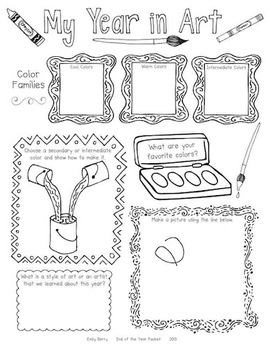 This is an image of Fan Elementary Art Worksheets