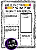 End of the Year Wrap Up in Speech & Language Therapy