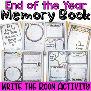 End of the Year Write the Room Memory Book