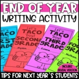 End of the Year Writing Activity Brochure | Advice for Next Year's Students