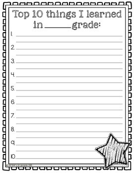 End of the Year Writing Activity FREEBIE