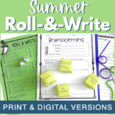 Summer Writing Activity - Roll & Write Center