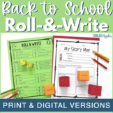 Back to School Writing Activity - Roll & Write Center