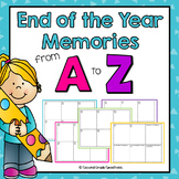 End of the Year Writing Project: End of the Year Memories From A to Z
