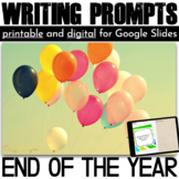 End of the Year Activities | Writing Prompts