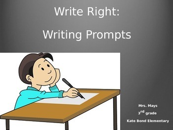 End of the Year Writing Prompts PPT