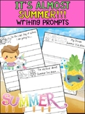 End of the Year Writing Prompts -  Peppy Pencil : It's Almost Summer - SET 2