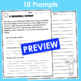 End of the Year Writing Prompts- 10 Prompts Ready to Print and Write