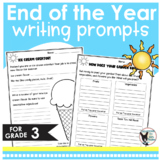 End of the Year Writing Prompts- 10 Prompts Ready to Print