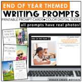 End of the Year Writing Prompts {with real photos}