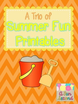 End of the Year Writing Trio of Summer Fun Printables