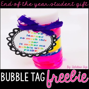 End of the Year gift labels: Bubbles