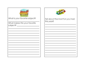 End of the Year in Review Student  - First Grade-REVISED