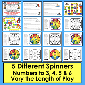 Summer Literacy Centers Sight Words Summer Game Boards - Last 120 Dolch