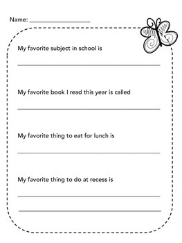 End of the Year worksheets
