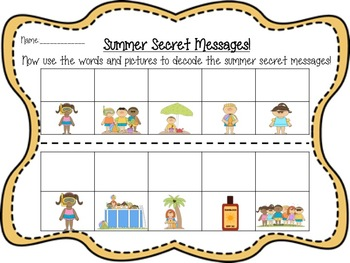 End of the Year/Summer Sight Word Hunt!  Write the Room with Secret Messages!