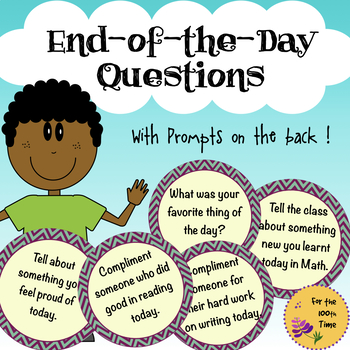 End-of-the-day Wrap-Up Questions for a Student-Led Meeting + Prompts!