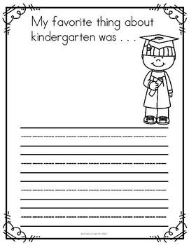 End of the school year writing prompt- Kindergarten