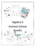 Back to School Math Activity Bundle Algebra 2 Review