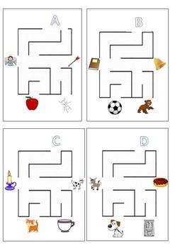 End of the year Alphabet Maze Bundle