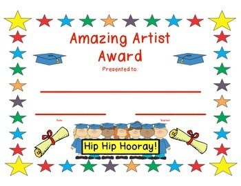End of the year Award Certificates/medals/invites/parent thank you card
