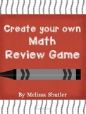 Create Your Own Math Review Game