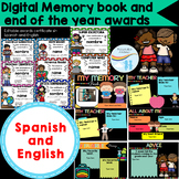 End of the year Digital memory book and Awards certificates Spanish and English