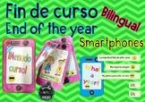 End of the year Final de Curso Smartphone Español Spanish English Bilingual