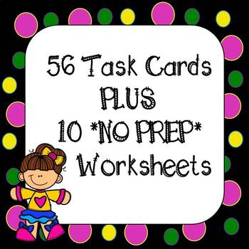 End of the year Math Review 4th Grade Common Core Task Cards & Worksheets